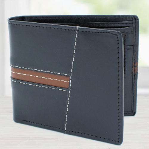 Wonderful Black Leather Wallet for Gents