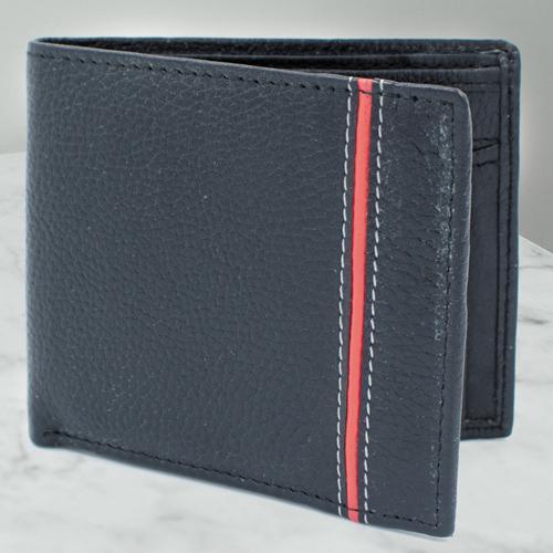 Impressive Black Color Mens Leather Wallet