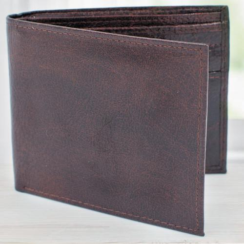 Mesmerizing Dark Brown Leather Wallet for Men