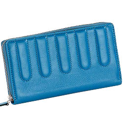 Remarkable Leather Ladies Wallet in Sky Blue