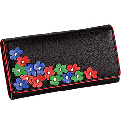 Marvelous Leather Flower Design Wallet from Leather Talks