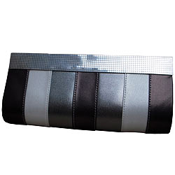 Styish Ladies Silver coloured Clutch Bag from Spice Art