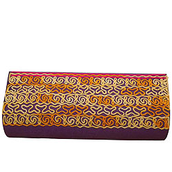 Marvelous Purple Leather Clutch Bag For Ladies