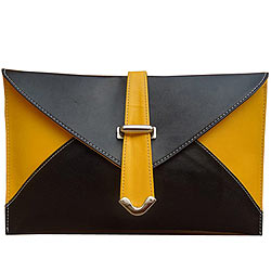 Marvelous Yellow and Black Ladies Clutch from Spice Art
