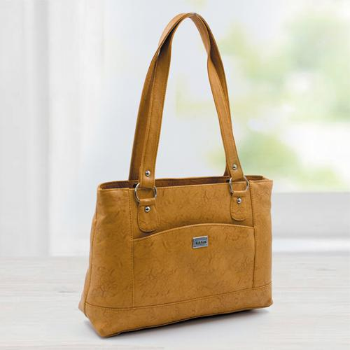 Smart Looking Ladies Vanity Bag in Tan Color
