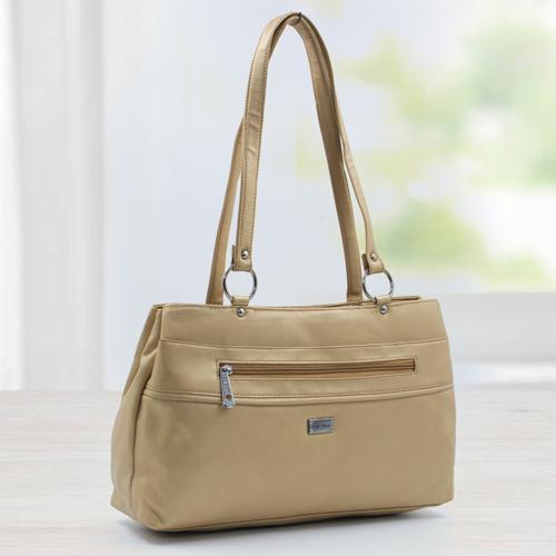 Splendid Golden Vanity Bag for Ladies