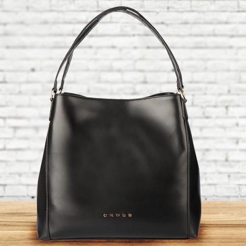 Fancy Cross Ladies Bag in Black