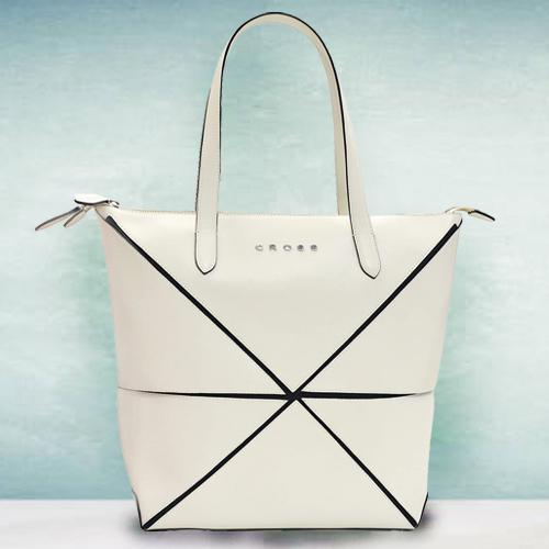 Fantastic Faux Leather Ivory Ladies Bag from Cross