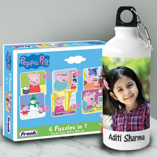 Mesmerizing Personalized Photo Sipper n Peppa Pig Puzzle
