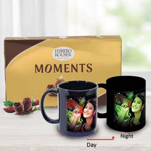Wonderful Personalized Photo Radium Mug with Ferrero Rocher