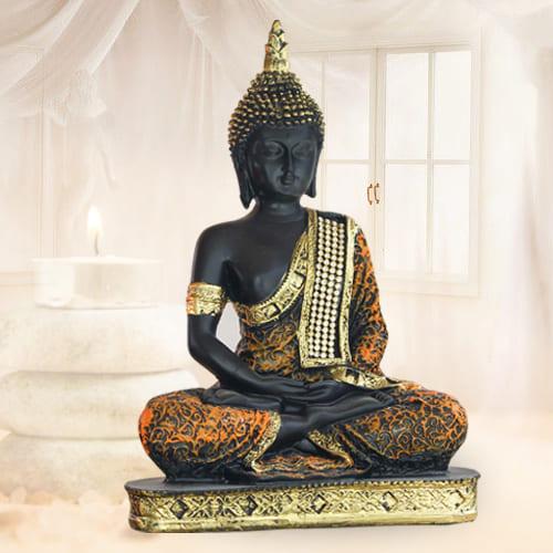 Decorative Sitting Buddha Polyresin Statue