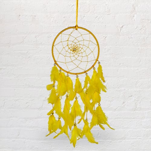 Crafty Beaded Dreamcatcher Feng Shui Showpiece