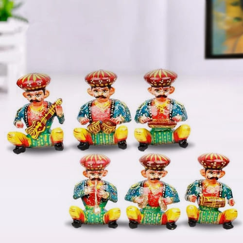 Marvelous Set of 6 Rajasthani Musician Bawla Set
