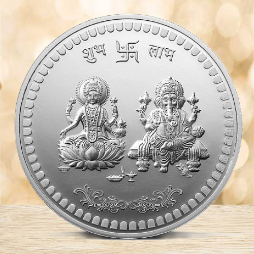 Wonderful Lakshmi Ganesh Silver Coin