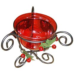 Elegant Red Candle Stand Gift