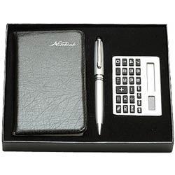 Unique Diary Gift with Calculator and Pen Gift Set
