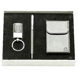 Marvelous Steel finish Key Ring, Pen and Visiting Card Holder