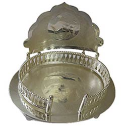 Marvelous Silver Plated Mandir Case
