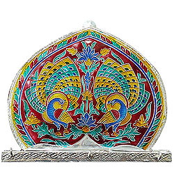 Beautiful Meenakari Designed Wall Key Hanger