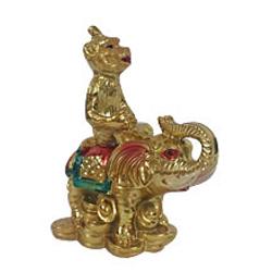 Marvelous Feng Shui Monkey on Elephant