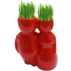 Perky Bonsai Head Planter Doll