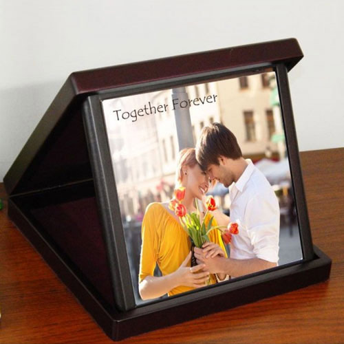 Stylish Personalized Photo Tile in a Case