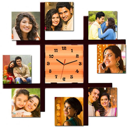 Lovely Personalized Photo Wall Clock