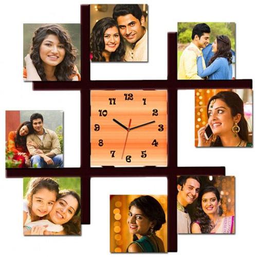 Stylish Personalized Photo Wall Clock