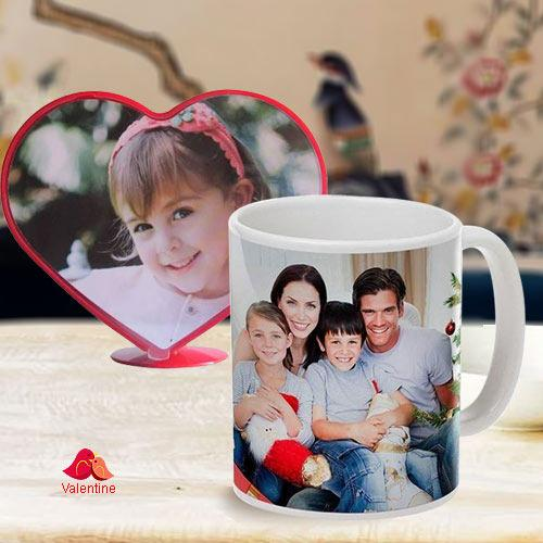 Standard Personalized Heart Shape Photo Coffee Mug
