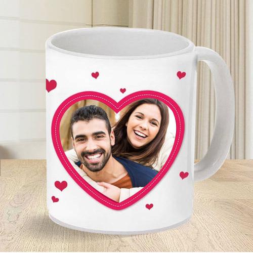 Special Personalized Heart Shape Photo Coffee Mug