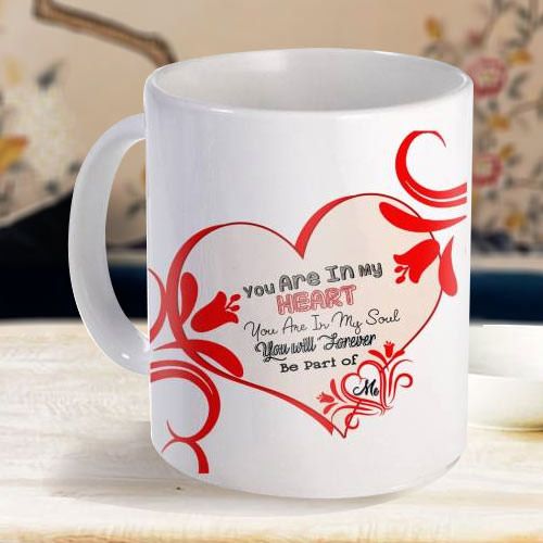 Magical White Coffee Mug with a Personalized Message