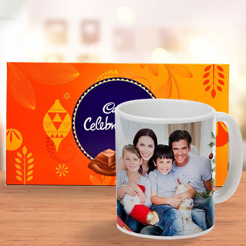 Perfect Personalized Coffee Mug with Cadbury Celebrations Pack