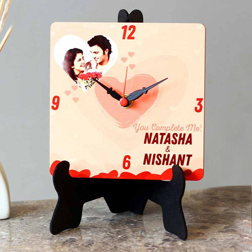 Mind Blowing Personalized Photo Square Table Clock