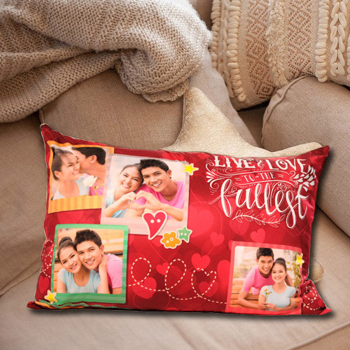 Stylish Rectangular Personalized Photo Cushion