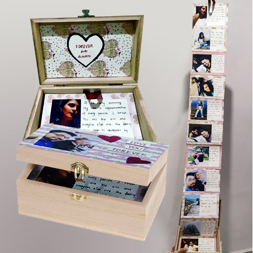 Wonderful Infinity Box of Personalized Message n Photos