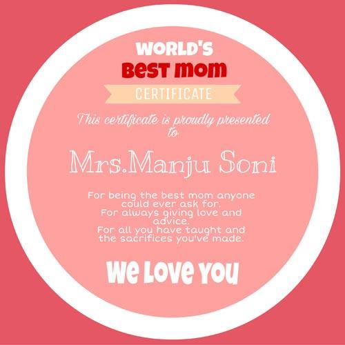 Stunning Mom Certificate
