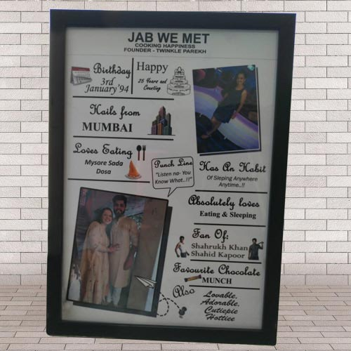 Exclusive All About Me Frame