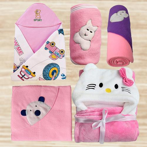 Amazing Wrapper Blanket Gift Set for Newborn Babies