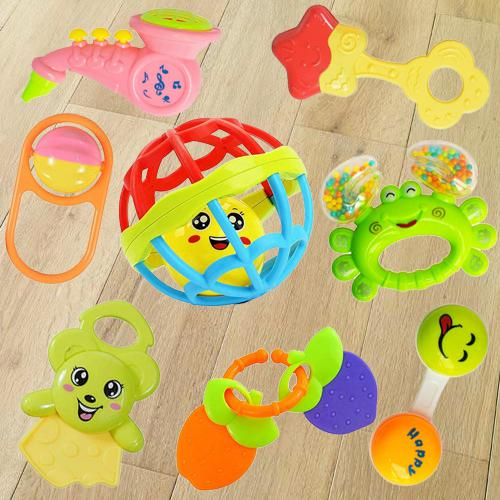 Exciting Gift of Rattles and Teethers Toys Set for Babies