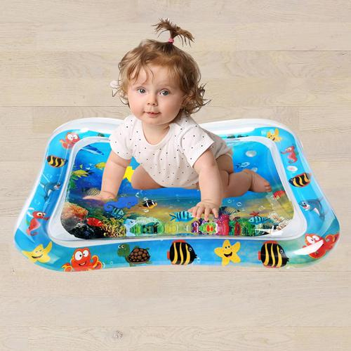 Wonderful Inflatable Water Tummy Time Playmat for Babies