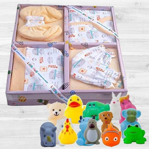 Remarkable Clothing Set N Animal Shape Bath Toy Set