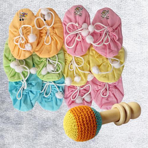 Wonderful Set of Bootie N Rattle Toy
