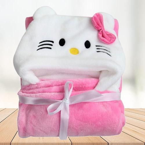 Attractive Wrapper Baby Bath Towel for Girls