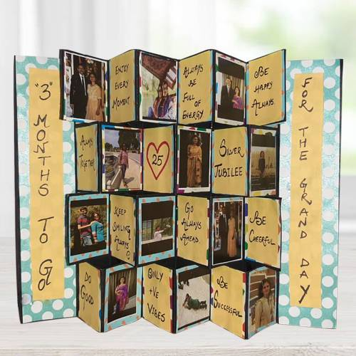 Wonderful Pop Up Personalized Zig Zag Card