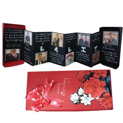 Stylish Personalized Folding Photo Greetings Card