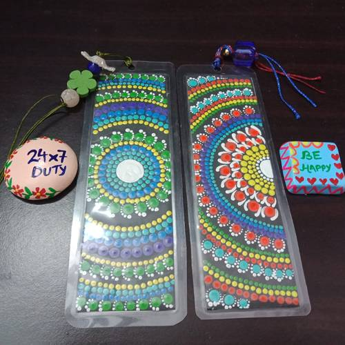 Impressive Dot Mandala Art Bookmarker n Fridge Magnets