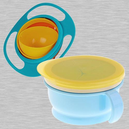 Wonderful No Spill Gyro Bowl N Baby Feeding Bowl