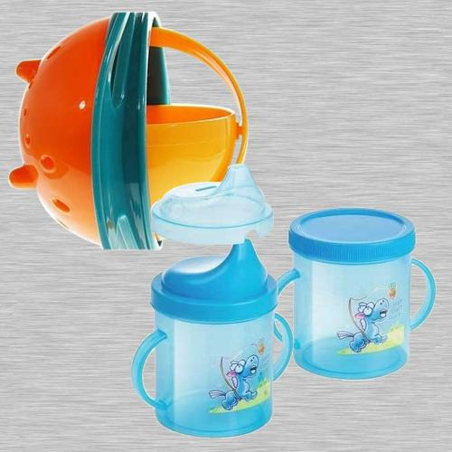 Wonderful Non Spill Feeding Gyro Bowl and Sipper Cup Combo