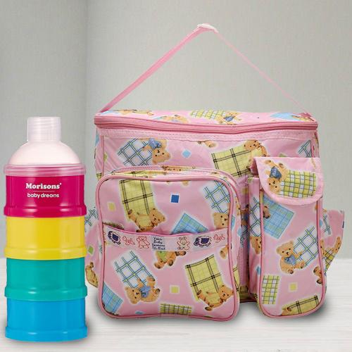 Wonderful Milk Powder Container N Compartment Baby Bag