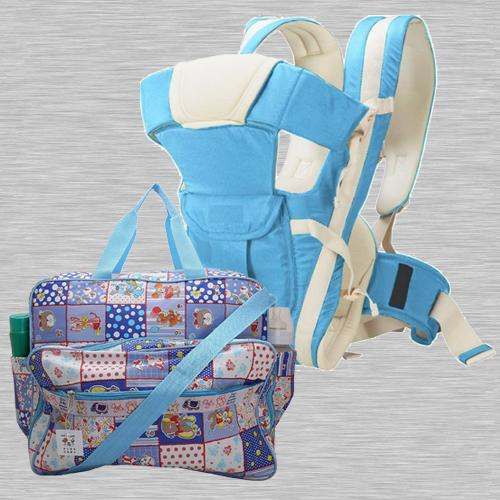 Amazing Compartment Bag N Baby Carrier Cum Kangaroo Bag
